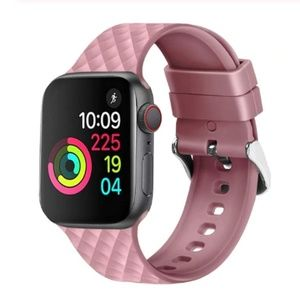 Accessories - ❤️NEW Pink Rhomboid Silicone Band For Apple Watch